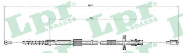 LPR C0050B Трос, стояночная тормозная система