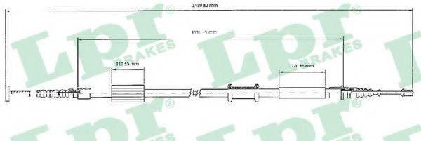 LPR C0208B Трос, стояночная тормозная система