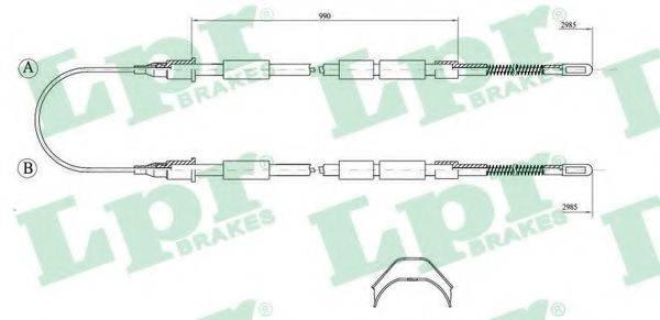LPR C1032B Трос, стояночная тормозная система