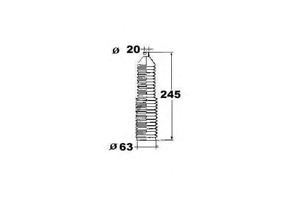OCAP 1211382 Пыльник, рулевое управление