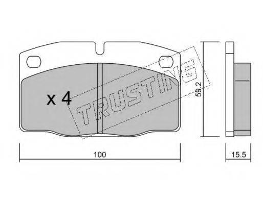 TRUSTING 0460 Комплект тормозных колодок, дисковый тормоз