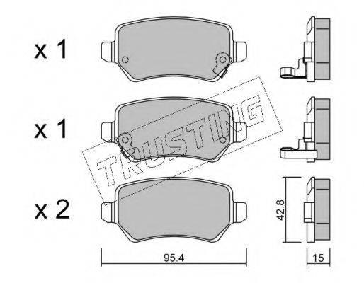 TRUSTING 5580 Комплект тормозных колодок, дисковый тормоз