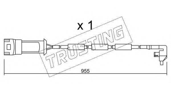 TRUSTING SU091 Сигнализатор, износ тормозных колодок