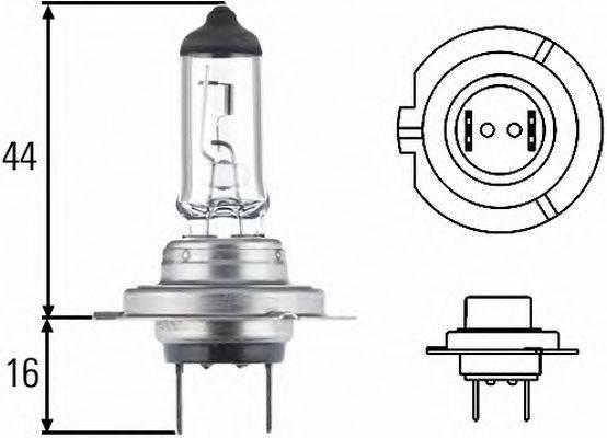 HELLA 8GH007157121 Лампа накаливания, фара дальнего света; Лампа накаливания, основная фара; Лампа накаливания, противотуманная фара; Лампа накаливания; Лампа накаливания, основная фара; Лампа накаливания, противотуманная фара; Лампа накаливания, фара с авт. системой стабилизации; Лампа накаливания, фара дневного освещения