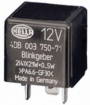 HELLA 4DB003750711 Прерыватель указателей поворота; Прерыватель указателей поворота