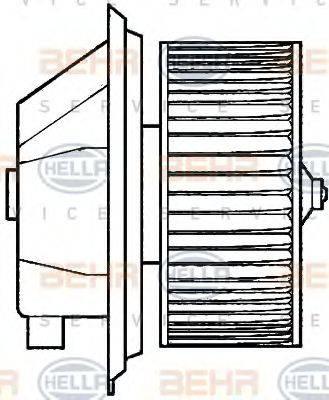 HELLA 8EW351039351 Вентилятор салона
