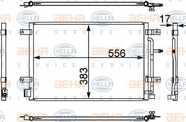 HELLA 8FC351302441 Конденсатор, кондиционер