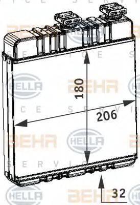 HELLA 8FH351311141 Теплообменник, отопление салона