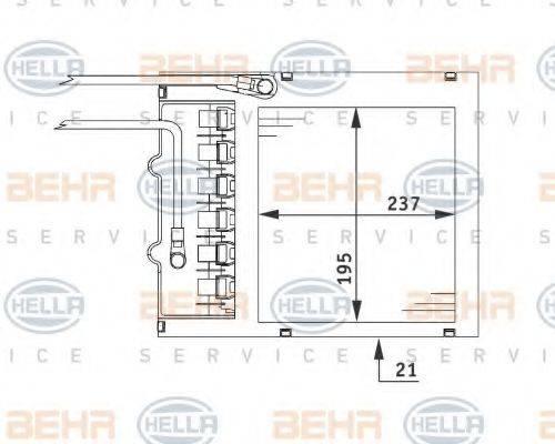 HELLA 8FH351311151 Теплообменник, отопление салона