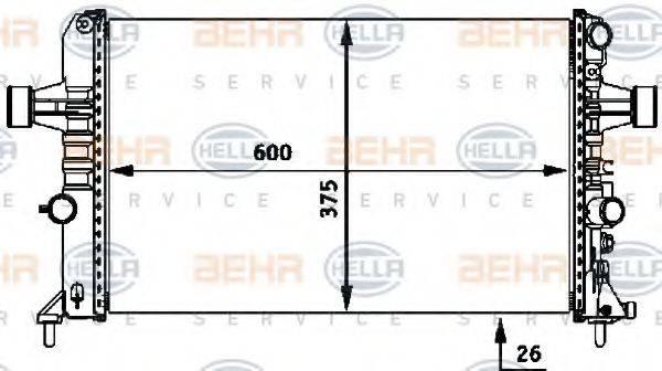HELLA 8MK376718331 Радиатор, охлаждение двигателя