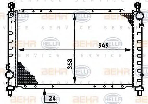 HELLA 8MK376720131 Радиатор, охлаждение двигателя