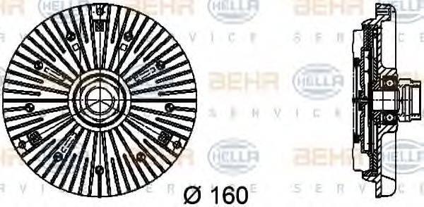 HELLA 8MV376734451 Сцепление, вентилятор радиатора