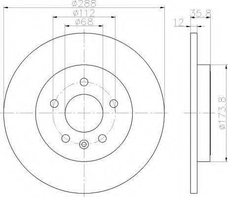 HELLA 8DD355111811 Тормозной диск