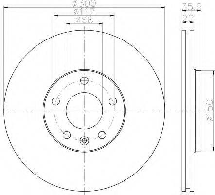 HELLA 8DD355111831 Тормозной диск