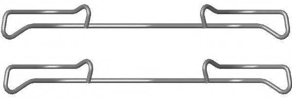 HELLA 8DZ355201371 комплект принадлежностей, тормозной суппорт