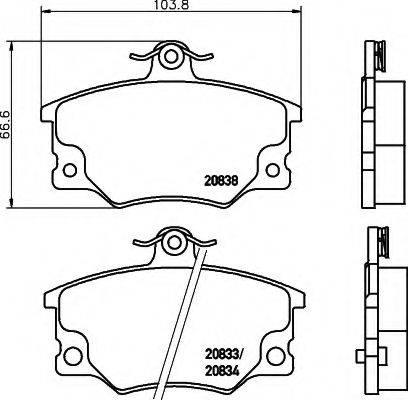 HELLA 8DB355005961 Комплект тормозных колодок, дисковый тормоз