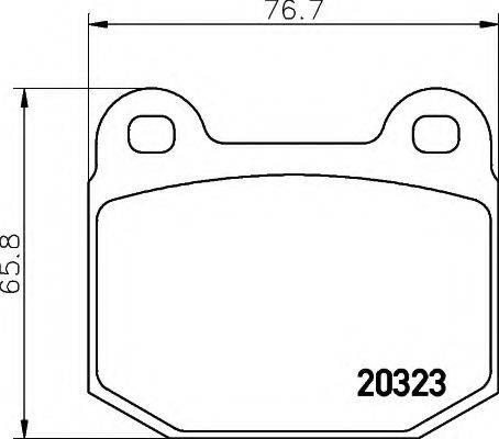 HELLA 8DB355007001 Комплект тормозных колодок, дисковый тормоз