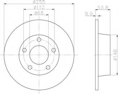 HELLA 8DD355107341 Тормозной диск