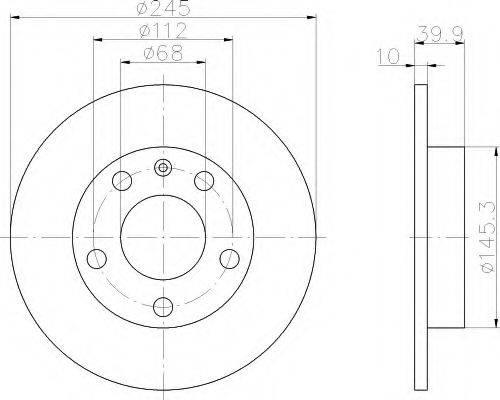 HELLA 8DD355107531 Тормозной диск