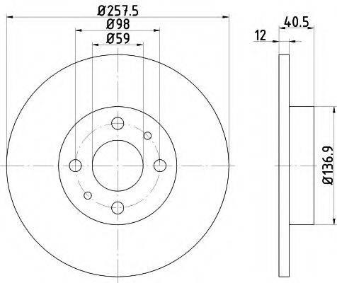 HELLA 8DD355101621 Тормозной диск