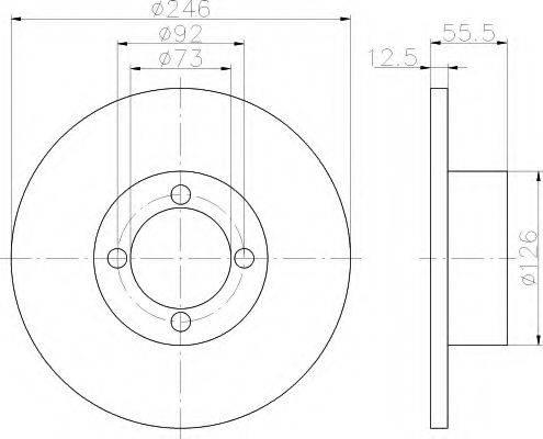 HELLA 8DD355100141 Тормозной диск