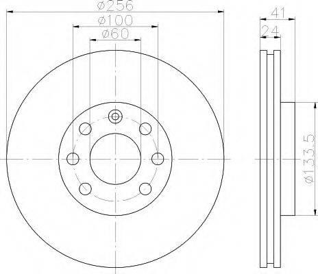 HELLA 8DD355101491 Тормозной диск
