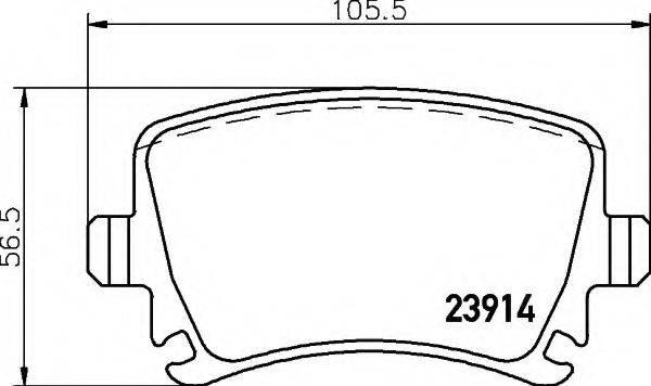 HELLA 8DB355010601 Комплект тормозных колодок, дисковый тормоз