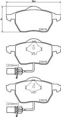 HELLA 8DB355010731 Комплект тормозных колодок, дисковый тормоз