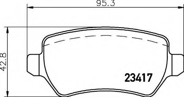 HELLA 8DB355011361 Комплект тормозных колодок, дисковый тормоз