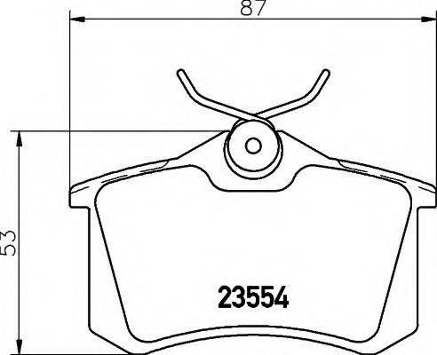HELLA 8DB355012791 Комплект тормозных колодок, дисковый тормоз