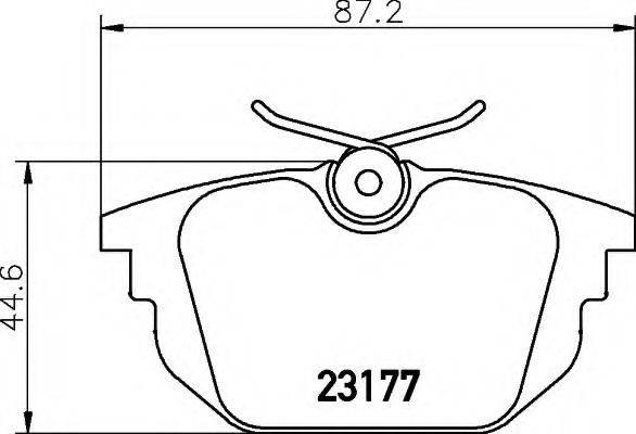 HELLA 8DB355018371 Комплект тормозных колодок, дисковый тормоз