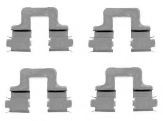 HELLA 8DZ355203551 Комплектующие, колодки дискового тормоза