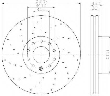 HELLA 8DD355113761 Тормозной диск