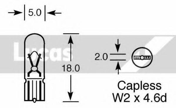 LUCAS ELECTRICAL LLB284 Лампа накаливания, дополнительный фонарь сигнала торможения