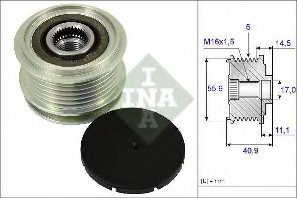 INA 535001210 Механизм свободного хода генератора