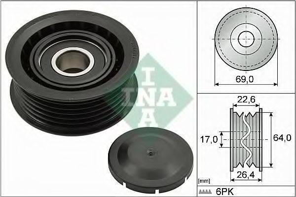 INA 532016010 Паразитный / ведущий ролик, поликлиновой ремень
