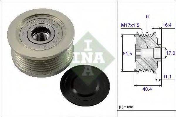 INA 535011510 Механизм свободного хода генератора