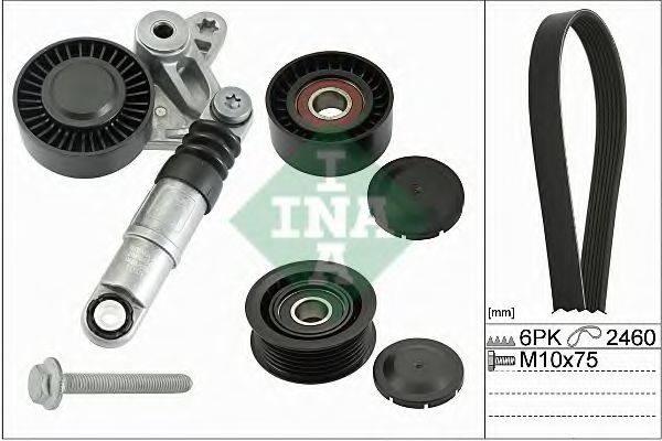 INA 529007510 Поликлиновой ременный комплект