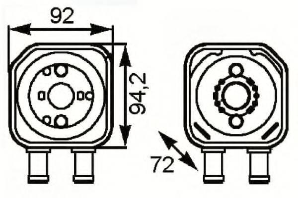 NRF 31179 масляный радиатор, двигательное масло