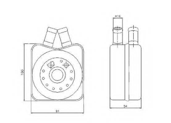 NRF 31304 масляный радиатор, двигательное масло