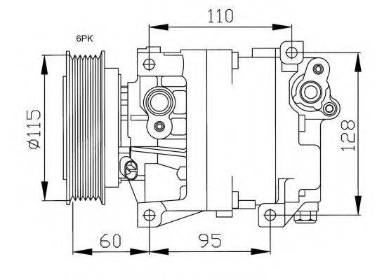 NRF 32169G Компрессор, кондиционер