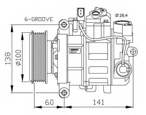 NRF 32263G Компрессор, кондиционер