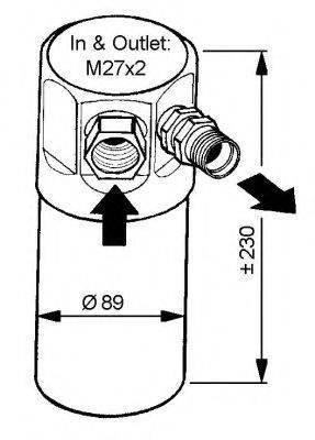 NRF 33040 Осушитель, кондиционер