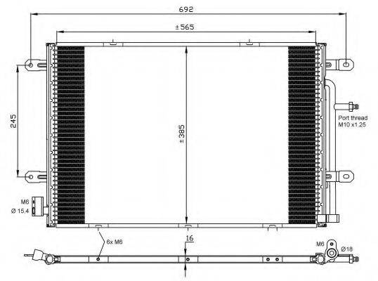 NRF 35841 Конденсатор, кондиционер