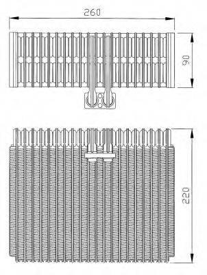 NRF 36066 Испаритель, кондиционер