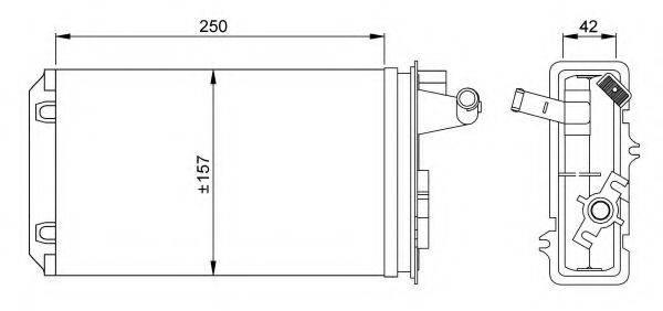 NRF 58637 Теплообменник, отопление салона