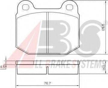 A.B.S. 36090 Комплект тормозных колодок, дисковый тормоз