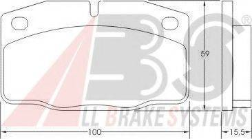 A.B.S. 36145 Комплект тормозных колодок, дисковый тормоз