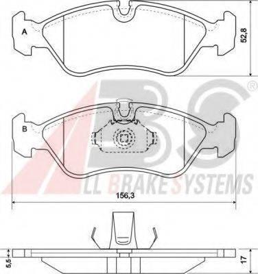 A.B.S. 36896 Комплект тормозных колодок, дисковый тормоз