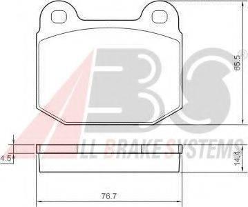 A.B.S. 37326S Комплект тормозных колодок, дисковый тормоз